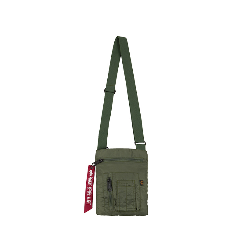taška CREW MESSENGER BAG sage green